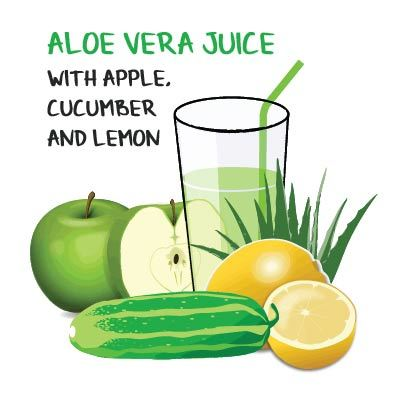 aloe vera juice recipe with apple cucumber and lemon