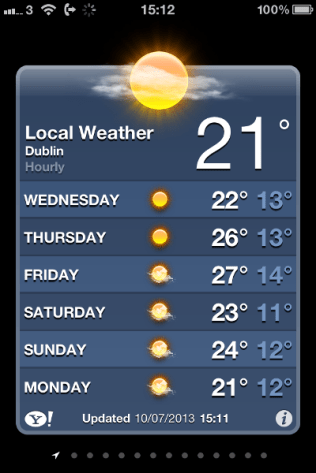 Now, that's much better. Oh wait, it's from last year. Where we had a heatwave which only happens every 7 years!