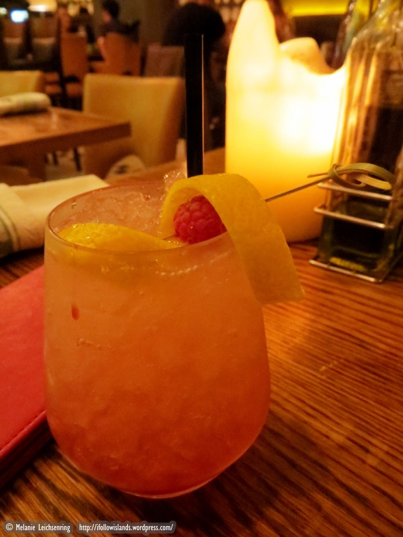 Bramble – Beefeater Gin, Lemon Juice and Sugar Syrup finished with a drizzle of Crème de Cassis