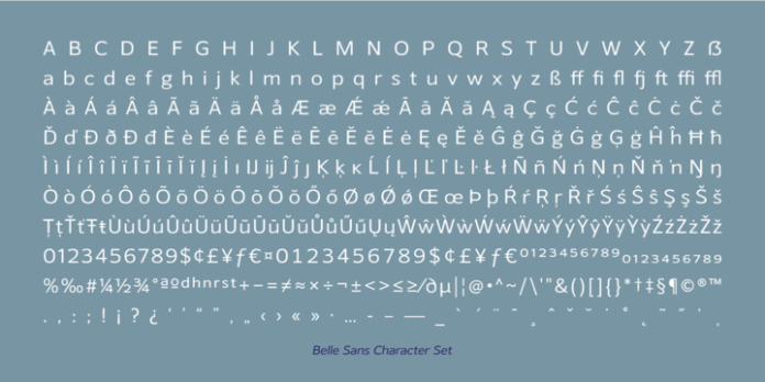 Belle Sans Font Family
