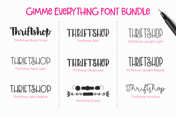 Gimme Everything Font Bundle