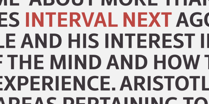 Interval Next Font family
