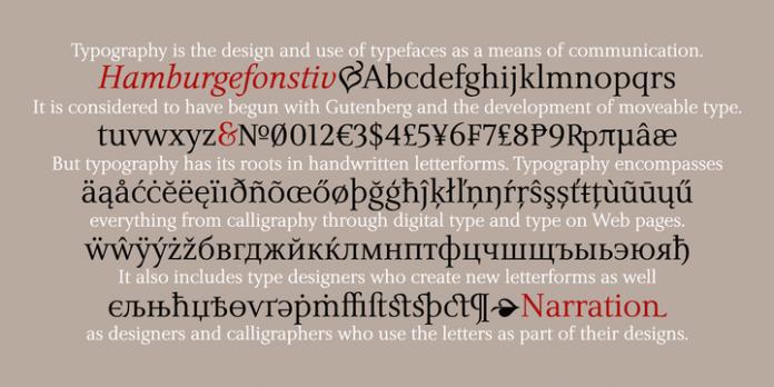 Narration Font Family