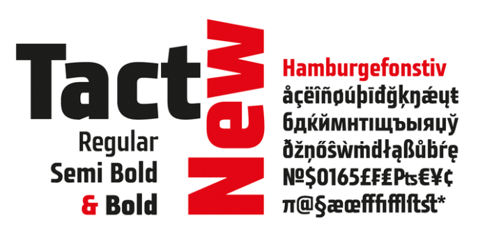 Tact New font family