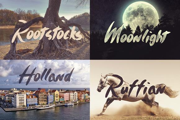 Timothy Brush Typeface