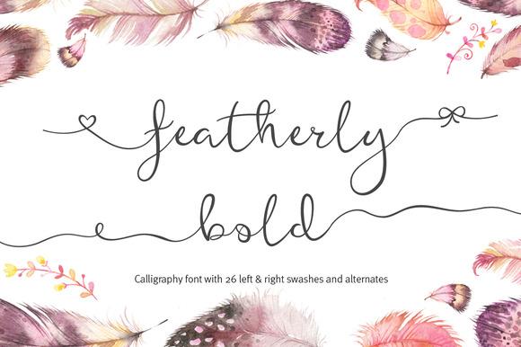 Featherly Bold Wedding Swash Font IFontsxyz