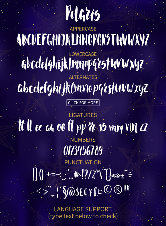 Polaris Brush Font