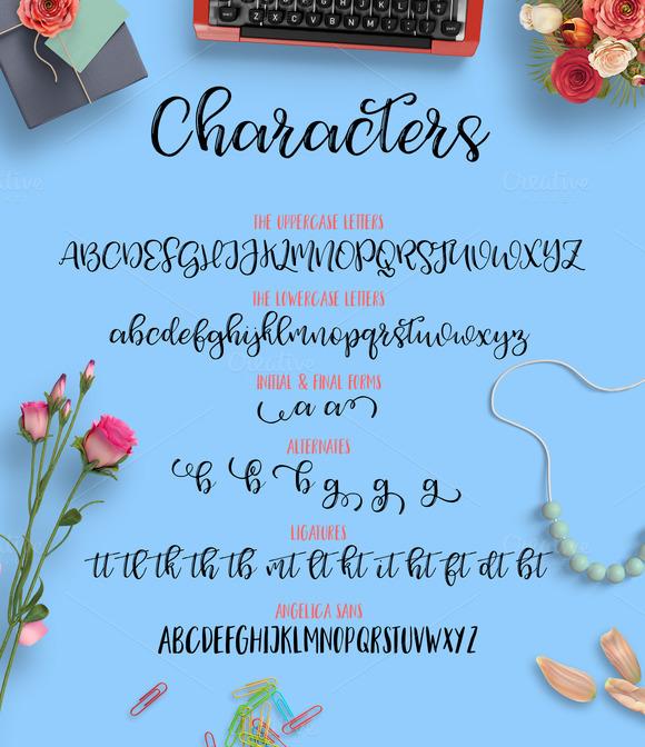 Angelica DUO Script Font