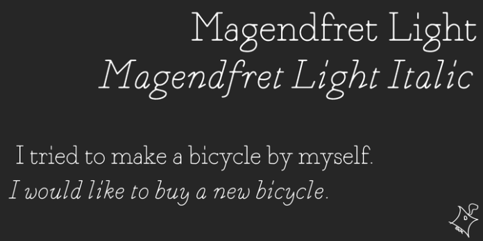 Magendfret Font Family