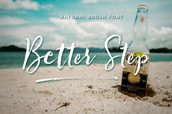 Better Step Brush Font