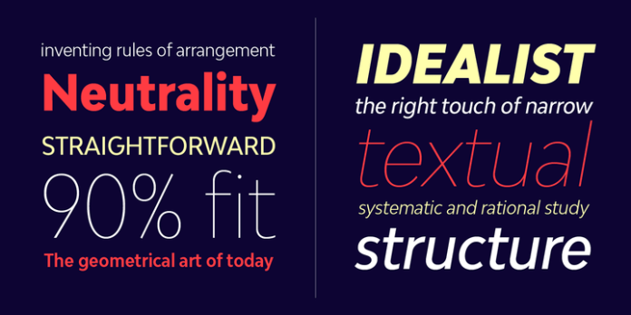 Bw Modelica Condensed Font Family