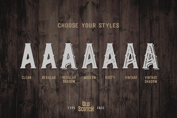 Old Scotch Typeface - 7 Styles