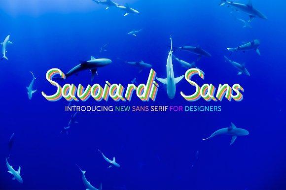 Savoiardi font family