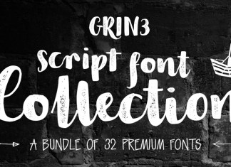 GRIN3 Script Font Collection