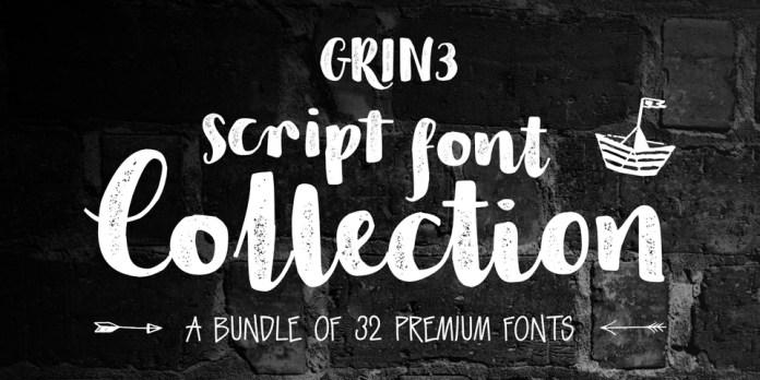 GRIN3 Script Font Collection