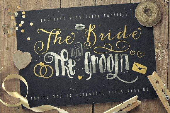 Just Married! Wedding Pack Font Bundle