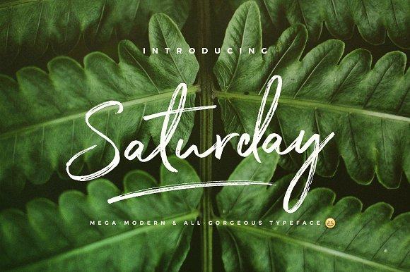 The Saturday Typeface