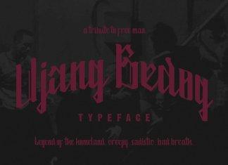 Ujang Bedog Typeface