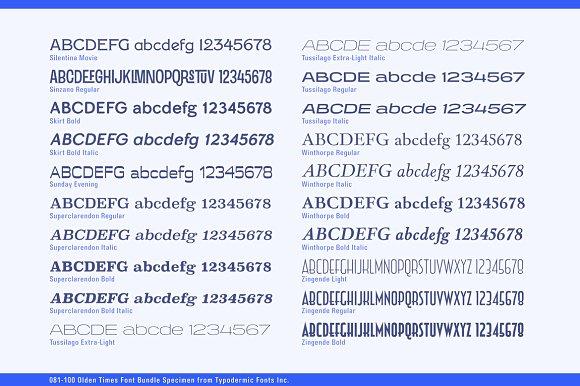 Olden Times Font Bundle