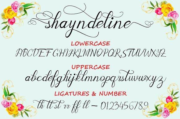 Shayndeline Script font