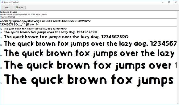 Breaklee Display Font