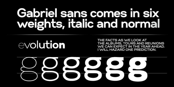 Gabriel Sans Font Family