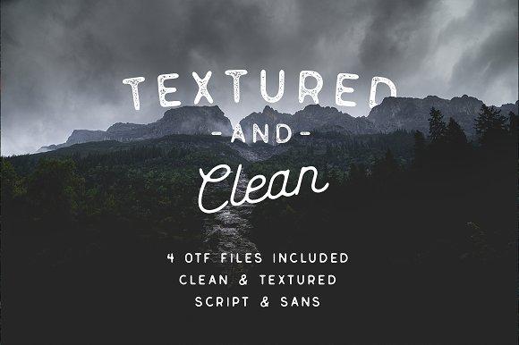 Genuine Script - Textured Type Duo