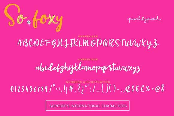 So Foxy Font