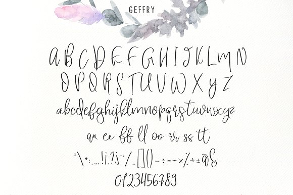 Geffry Script Font
