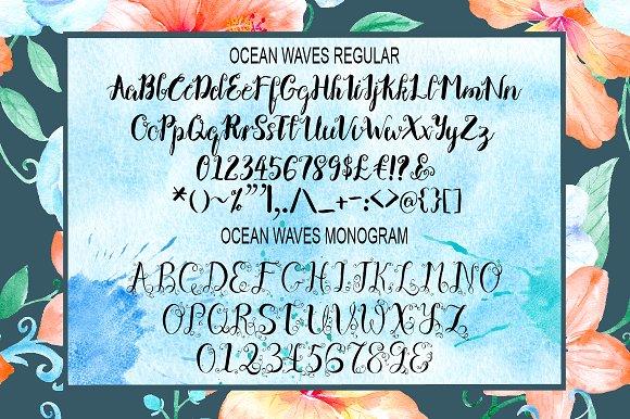 Ocean Waves Brush Font Duo