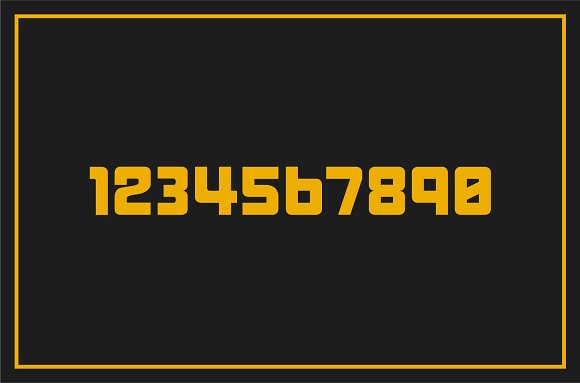 Machinery  Display Font