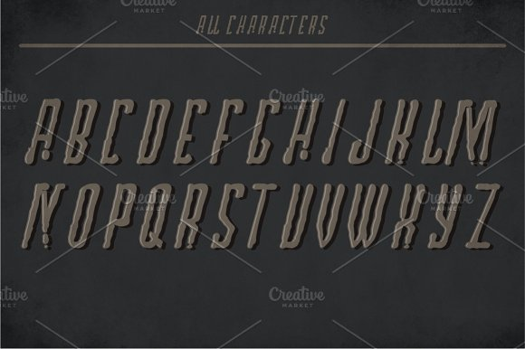 Manchester Label Typeface