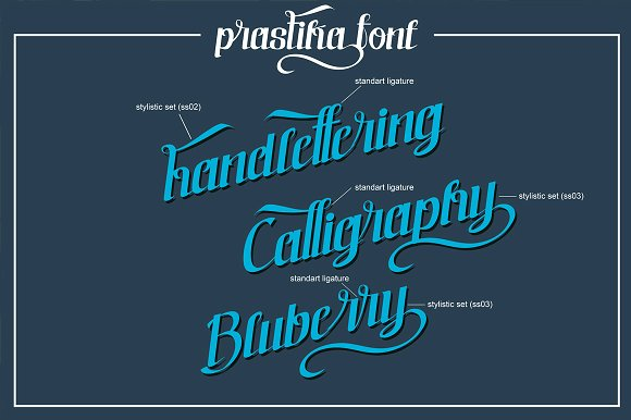 prastika script Font