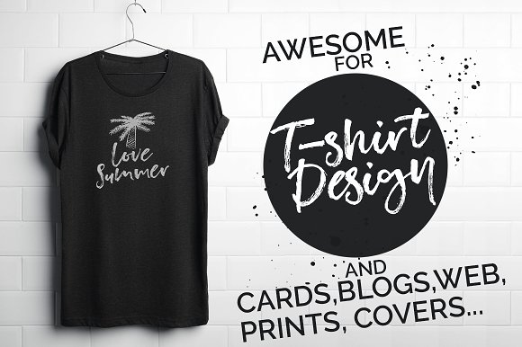 Unsatisfied Brush Font