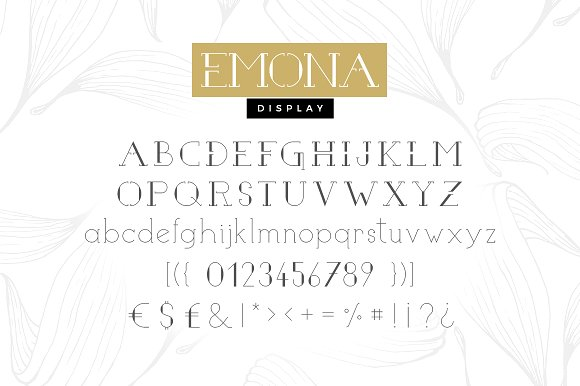 Emona - 3 fonts bundle