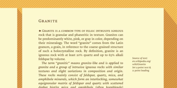 Granite Font Family
