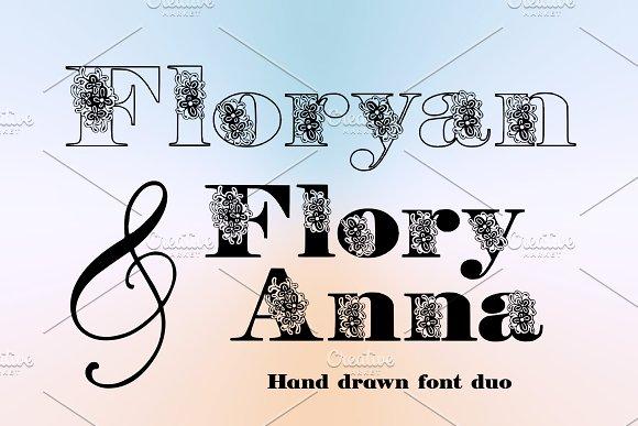 Floryan & FloryAnna Font Duo