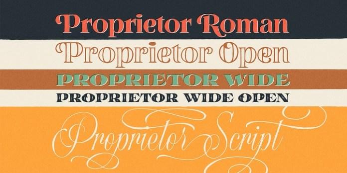 Proprietor Font Family