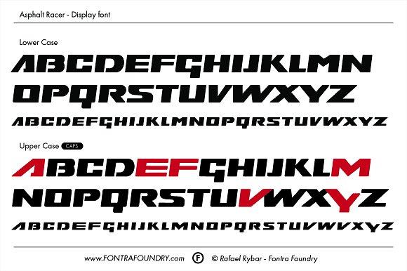 Asphalt Racer Typeface