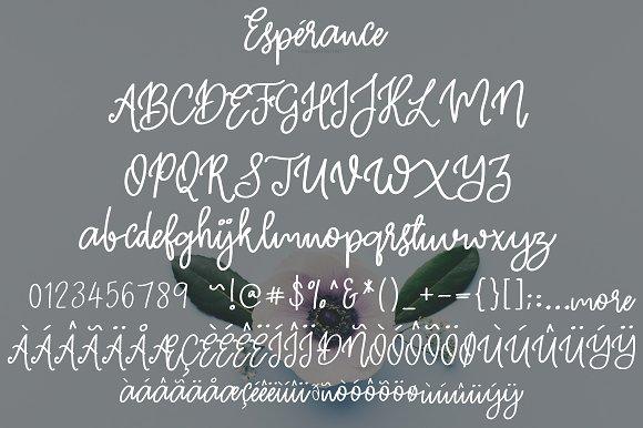 Esperance   Handwritten Font