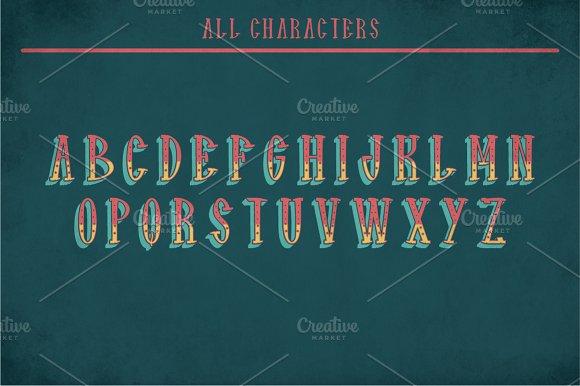 Hudson Vintage Label Typeface