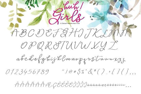 Huh! Girls Script Font