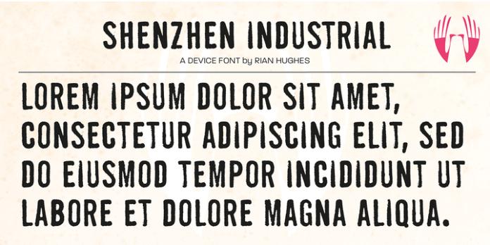 Shenzhen Industrial Font