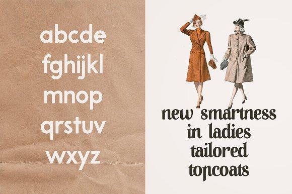 A Pompadour font | a font family