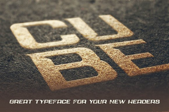 Cube - Display Font