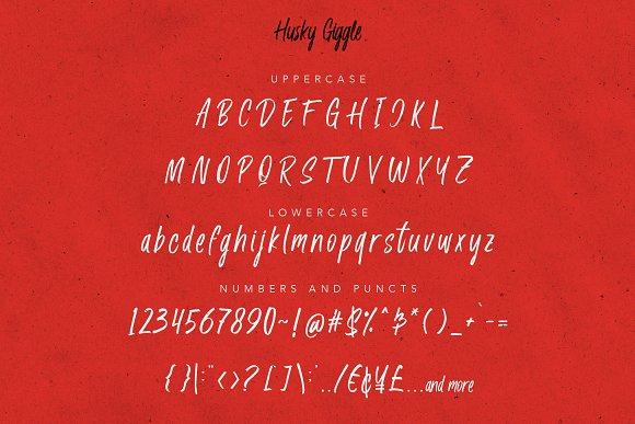 Husky Giggle - Handwriting Font