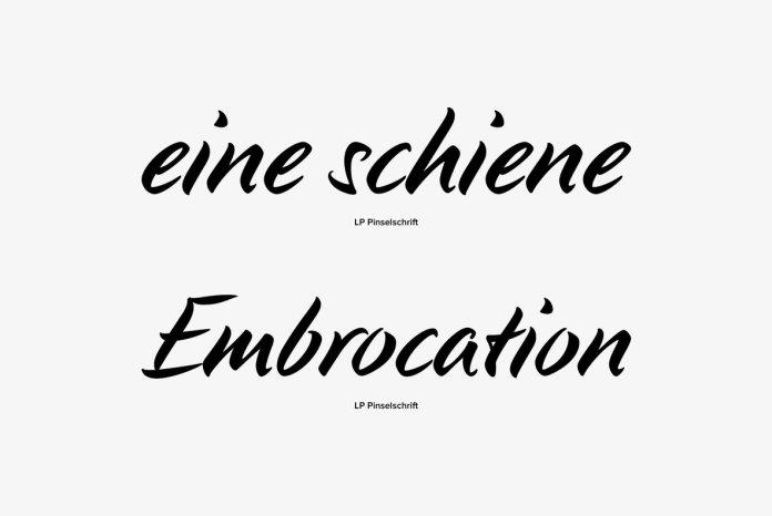 LP Pinselschrift Font