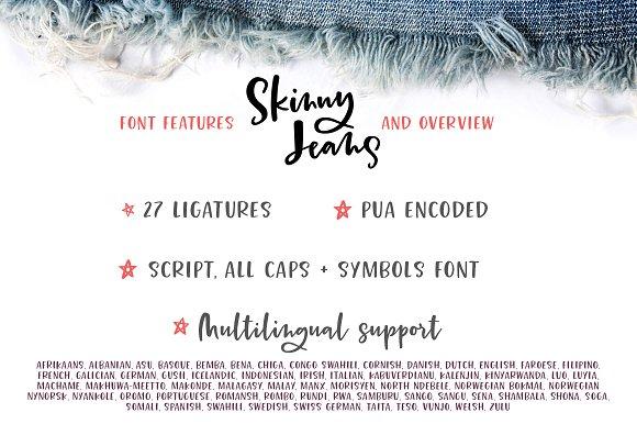 Skinny Jeans Font Trio