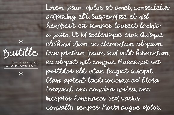 Bustille   Hand-drawn Font
