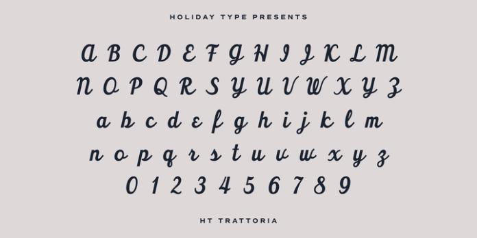 HT Trattoria Font